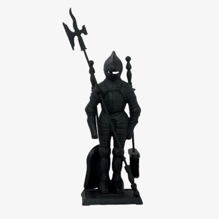 Набор каминный 50010BK - рыцарь, чёрный